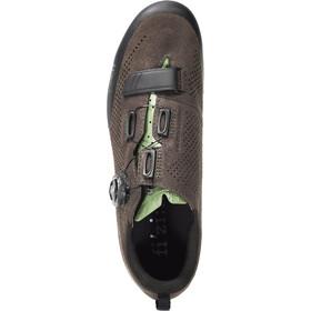 Fizik Terra X5 Suede MTB Schuhe dunkel braun/sage grün